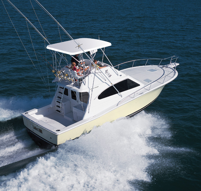 Research luhrs boats 38 convertible fishing boat on for Fishing boat games