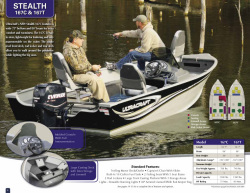 2013 - Misty Harbor Boats - Stealth 167C