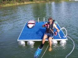 2014 - Paddle King - Swim Raft