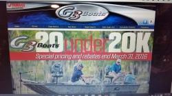 20 G3's under $20000.00 boats & pontoons
