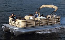 Sanpan Boats SP2200 RE-4 Gate Pontoon Boat