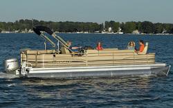 Sanpan Boats SP2500 DC-3 Gate Pontoon Boat