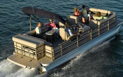 Sanpan Boats SP2500 RE-4 Gate IO Pontoon Boat