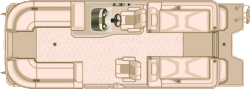 2017 Sylvan Boats Mandalay 8523 Sportlounger