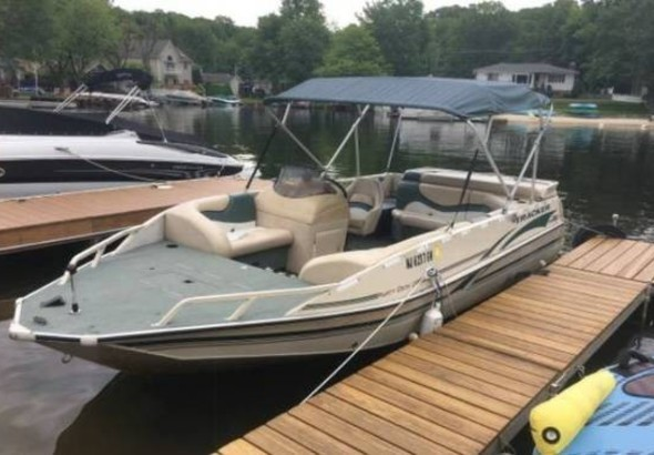 2001 Sun Tracker By Tracker Marine Party Deck 21 For
