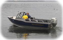 Wooldridge 17 Offshore Windshield Tiller Boat